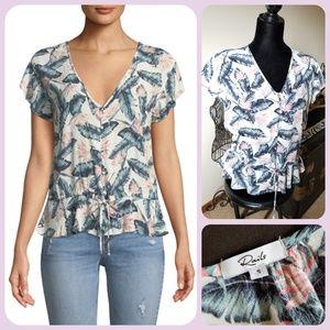 Rails flutter sleeve blouse